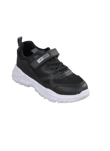 Cool 20-S06 Beyaz-Yeşil-Siyah Çocuk Spor Ayakkabı Siyah